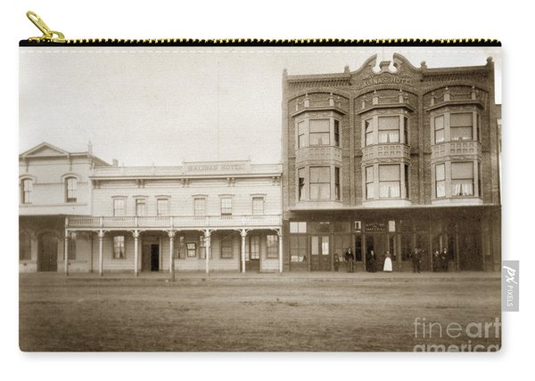 Old And New Salinas Hotel Was On West Market Street Circa 1885 Carry-all Pouch