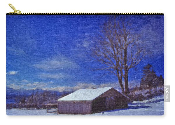 Old Barn In Winter Carry-all Pouch