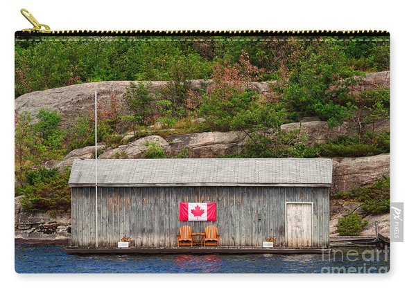 Old Boathouse With Two Muskoka Chairs Carry-all Pouch