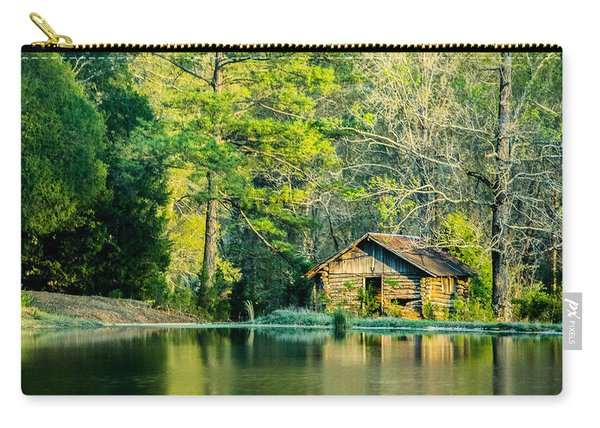 Old Cabin By The Pond Carry-all Pouch