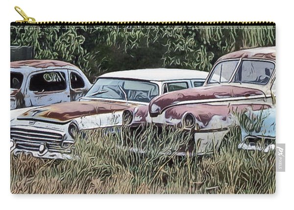 Old Car Graveyard Carry-all Pouch