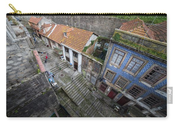Old City Of Porto In Portugal From Above Carry-all Pouch