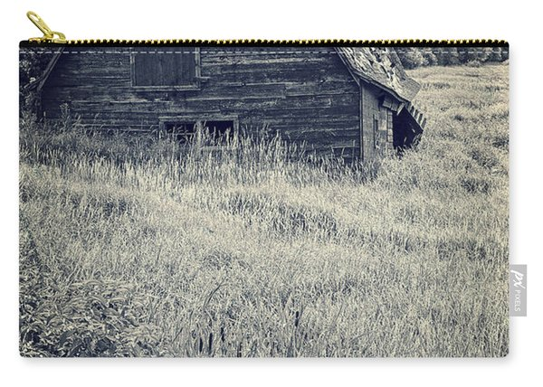 Old Falling Down Barn Blue Carry-all Pouch