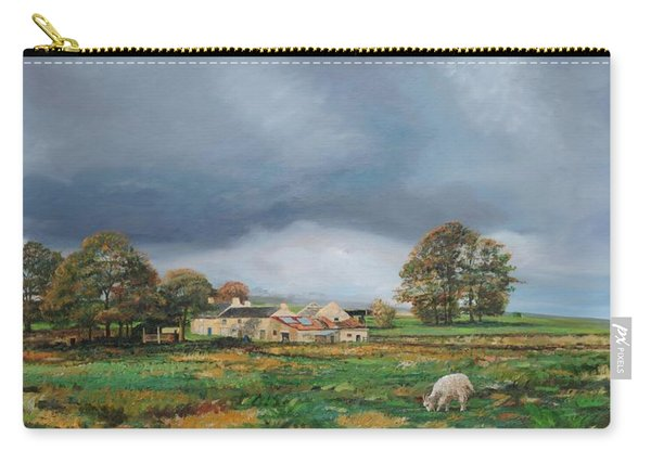 Old Farm, Monyash, Derbyshire, 2009 Oil On Canvas Carry-all Pouch