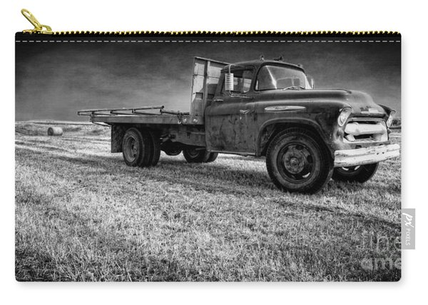 Old Farm Truck Black And White Carry-all Pouch