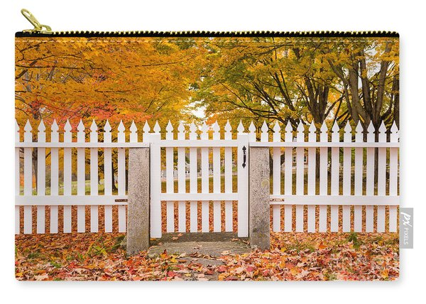Old New England White Picket Fence Carry-all Pouch