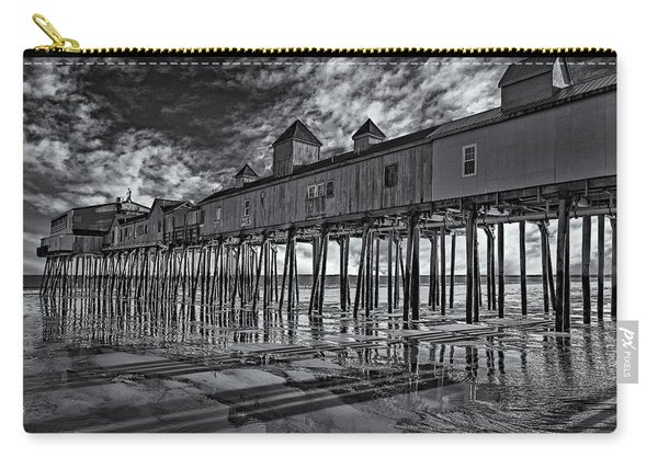 Old Orchard Beach Pier Bw Carry-all Pouch