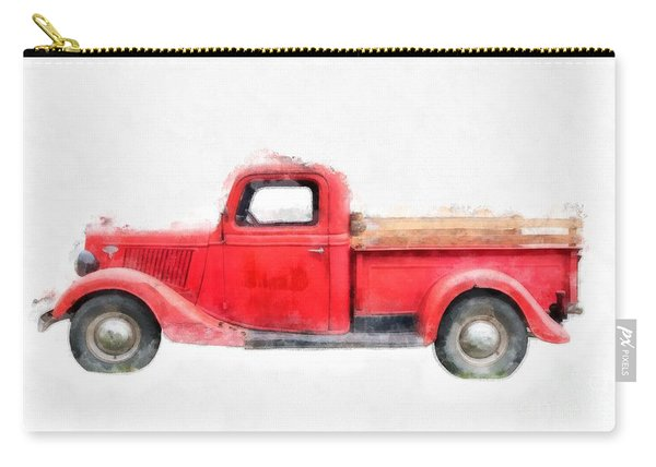 Old Red Ford Pickup Carry-all Pouch
