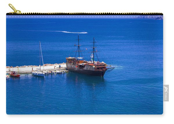 Old Sailing Ship In Bali Carry-all Pouch