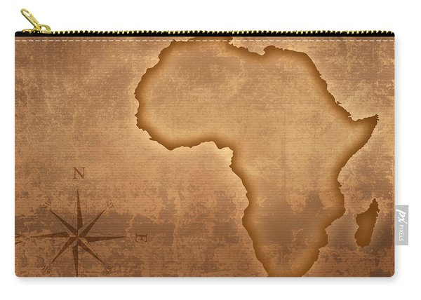Old Style Africa Map Carry-all Pouch