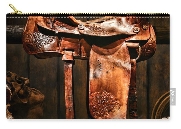 Old Western Saddle Carry-all Pouch