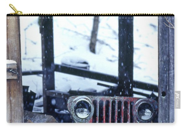 1g25 Old Willys Jeep In Old Barn Carry-all Pouch