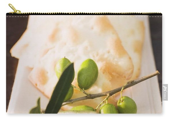 Olive Sprig With Green Olives, Crackers Carry-all Pouch