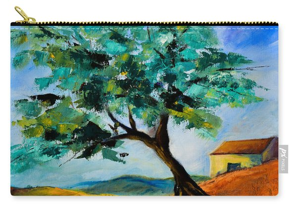 Olive Tree On The Hill Carry-all Pouch