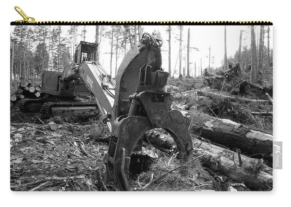 Ominous Looking Log Moving Crane Carry-all Pouch