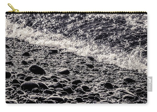 On The Rocks  French Beach Square Carry-all Pouch