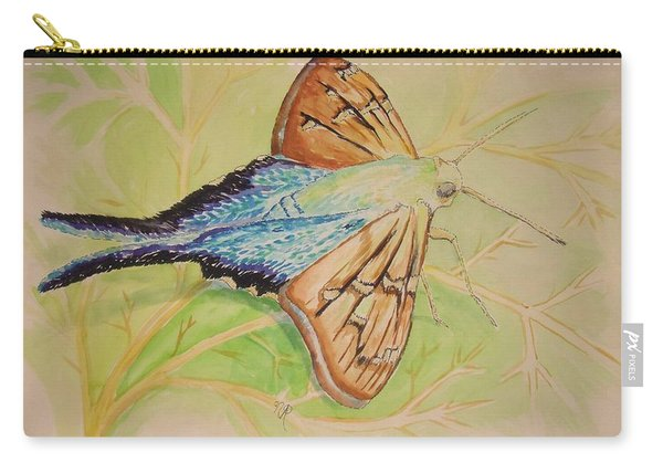 One Day In A Long-tailed Skipper Moth's Life Carry-all Pouch