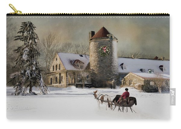 One Horse Open Sleigh Carry-all Pouch