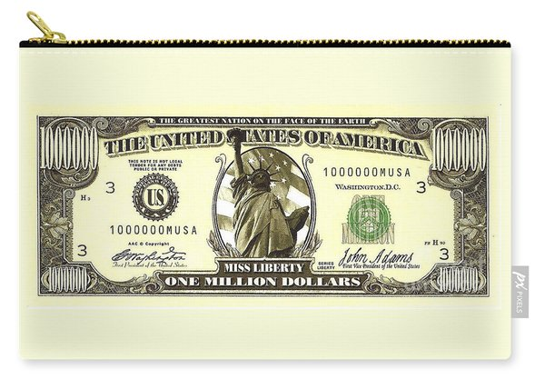 One Million Dollar Bill Carry-all Pouch
