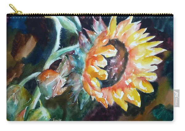 One Sunflower Carry-all Pouch
