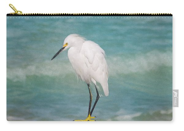 One With Nature - Snowy Egret Carry-all Pouch