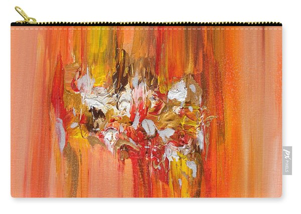 Orange Abstract Landscape Carry-all Pouch