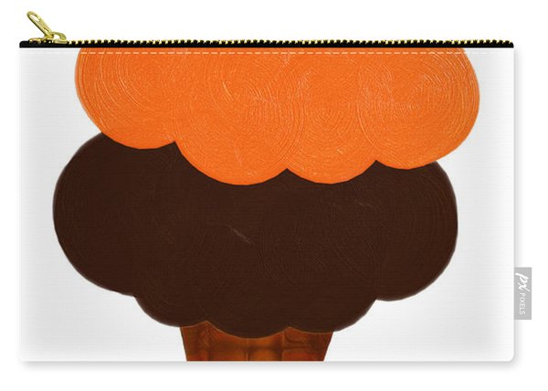 Orange And Chocolate Ice Cream Carry-all Pouch