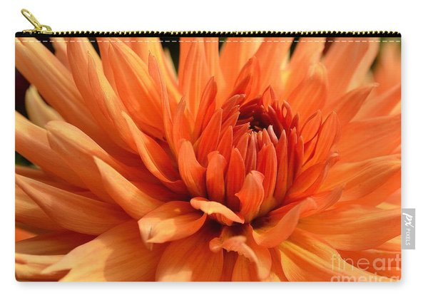 Carry-all Pouch featuring the photograph Orange Dahlia by Scott Lyons