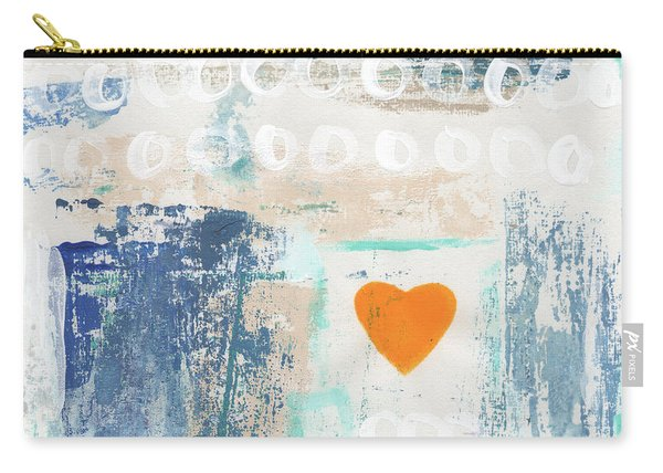 Orange Heart- Abstract Painting Carry-all Pouch