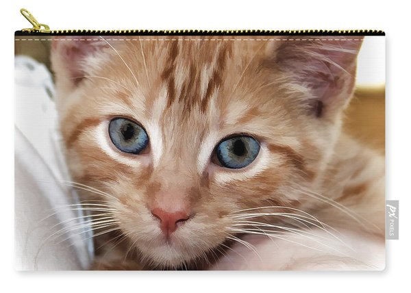 Orange Kitten Carry-all Pouch