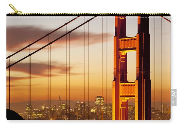 Carry-all Pouch featuring the photograph Orange Light At Dawn by Brian Jannsen