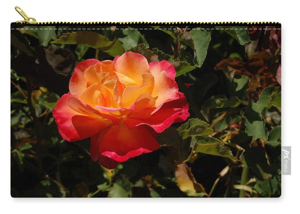 One Red And Orange Rose Carry-all Pouch