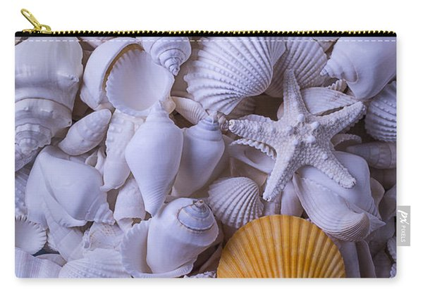Orange Sea Shell Carry-all Pouch