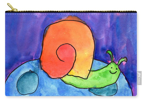 Orange Snail Carry-all Pouch