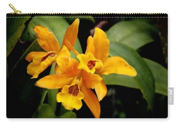 Orange Spotted Lip Cattleya Orchid Carry-all Pouch