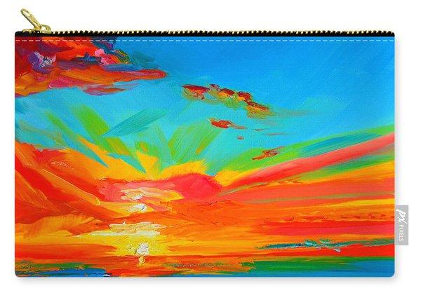 Orange Sunset Landscape Carry-all Pouch