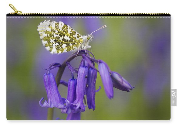Orange Tip Butterfly On English Carry-all Pouch