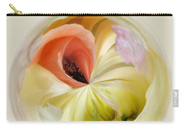 Orb 4... Poppy Meets Peony Carry-all Pouch