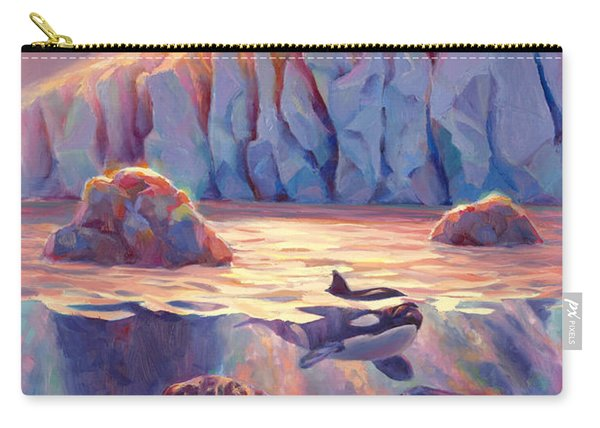 Orca Sunrise At The Glacier Carry-all Pouch