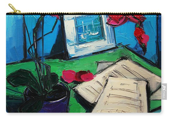Orchid And Piano Sheets Carry-all Pouch