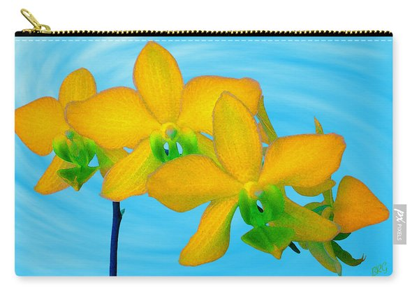 Orchid In Yellow Carry-all Pouch