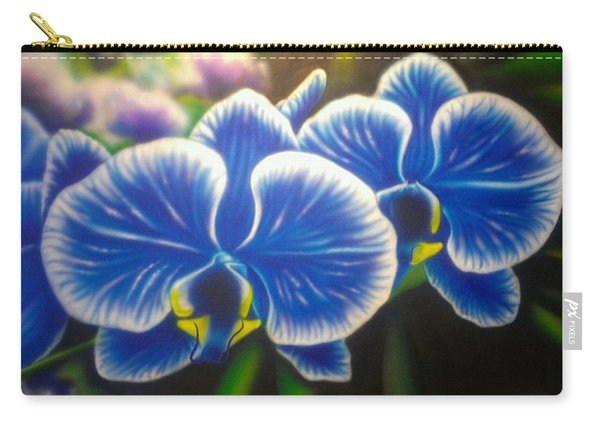 Orchid-strated Blues Carry-all Pouch
