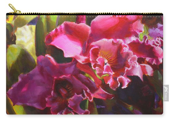 Orchids In Magenta Carry-all Pouch