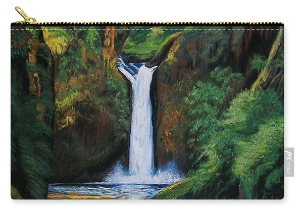 Oregon's Punchbowl Waterfalls Carry-all Pouch