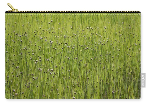 Organic Green Grass Backround Carry-all Pouch