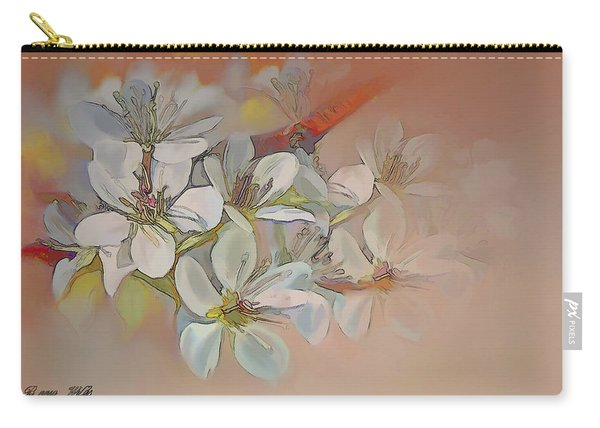 Oriental Pear Blossom Branch Carry-all Pouch