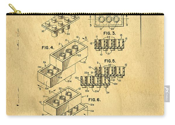 Original Us Patent For Lego Carry-all Pouch