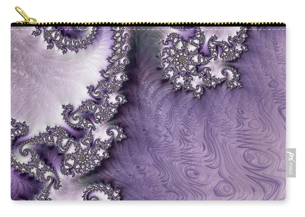 Ornate Lavender Fractal Abstract One  Carry-all Pouch