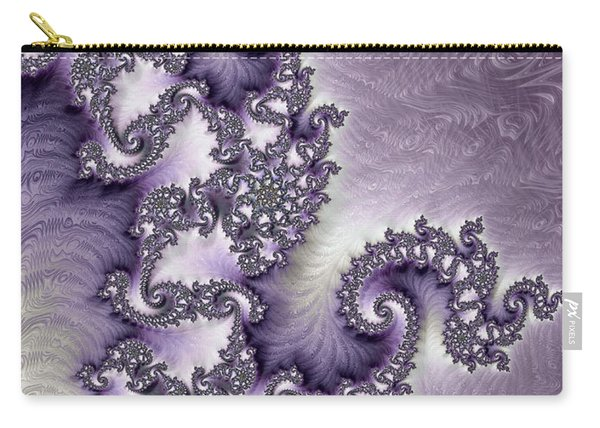 Ornate Lavender Fractal Abstract Two Carry-all Pouch