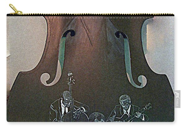 Carry-all Pouch featuring the painting Oscar Peterson Trio by Richard Le Page